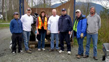Group cleanup at Chilliwack River